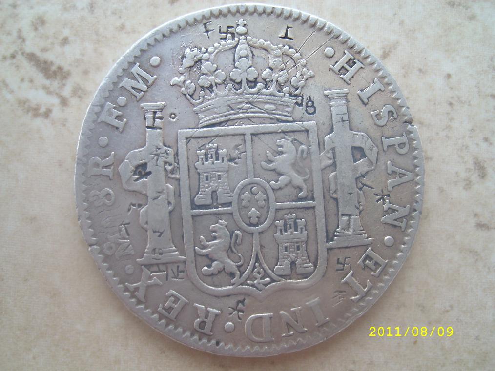 8 Reales de Carlos IV (México, 1800) con resellos chinos 167666229
