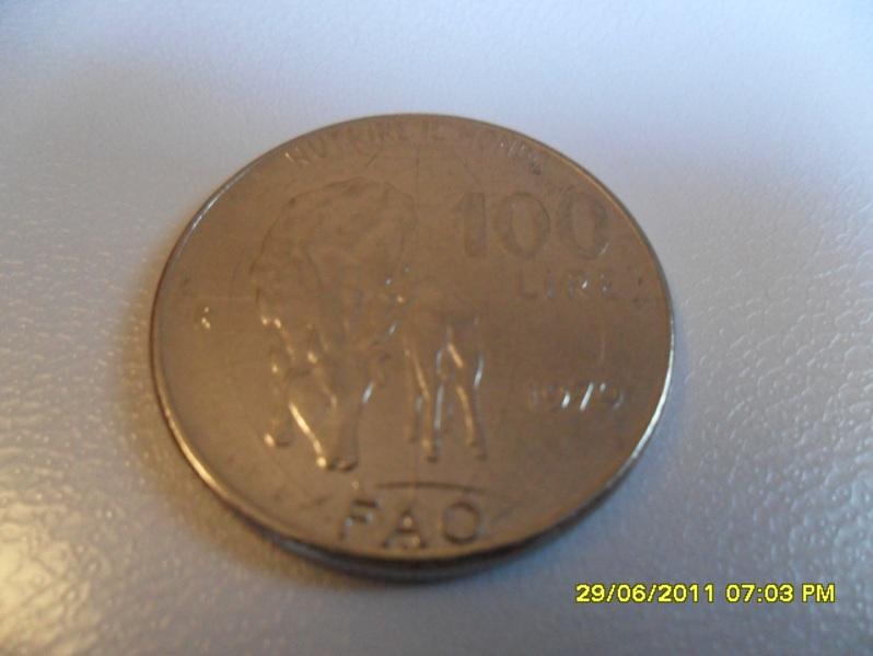 Italia, 100 liras, 1979. FAO. 272847080