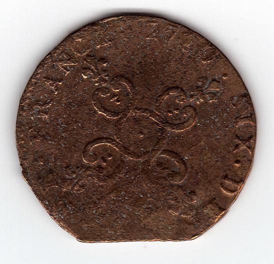 Reino de Francia, Six deniers Dardennes, Louis XIV (Aix), 1710. 558665863