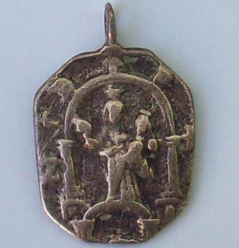 medalla Santiago / Nª Sª del Puente - s. XVII 810076642