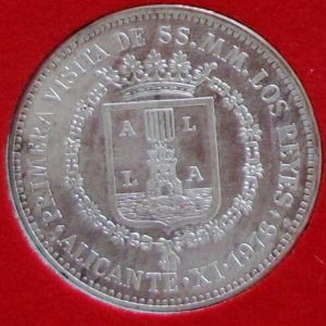 Medalla Plata Juan Carlos I conmemorativa visita capitales españolas. NVMISMA, S.A. 105243970