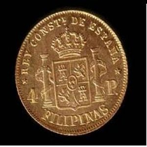 1890 Philippines Alfonso XIII 4 pesos 12009864