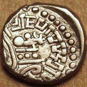 India - Kalachuris de Mahismati-Krishnaraja, Rupaka o Dracma de plata (550-575) 133114531