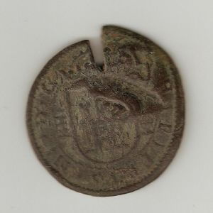 Resello a XII/1641-2 de la ceca de Madrid 149232004