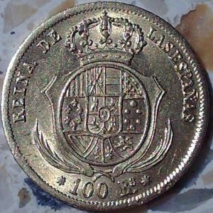 100 Reales de Isabel II (1833-1868), ceca Sevilla, ano 1854 152818990