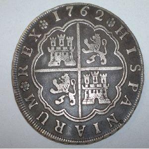 8 Reales de Carlos III (Sevilla, 1762) 175881331