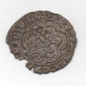 Blanca de Enrique III (Toledo, 1391) [Roma-Braña 6] + agujeros caronte [WM n° 9102] 193038161