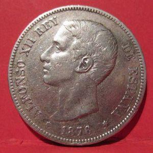 5 Pesetas de Alfonso XII 1876 DEM - Falsa o Verdadera? 194065944