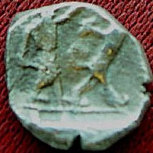 sidon - 1/16 Shekel de Sidón, Fenicia del rey Ba'alshillem II (401-366 a. C) 233147634