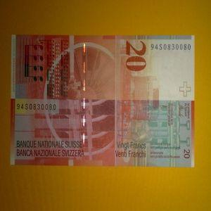 Billete 20 Francos Suizos 237909894
