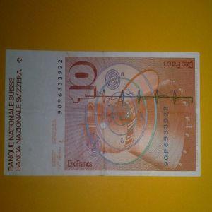Billete 10 Francos Suizos 1990 240185506