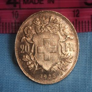 Suiza, 20 francos, 1935. 254112523