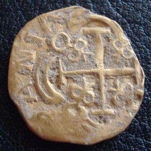 1 Escudo de Felipe V (1700-1746)- ¿Falsa de época o acuñación obsidional indigena? 258949002