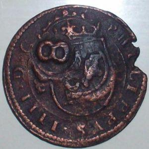 8 Mrs. de Felipe IV (Segovia, 1623) con resellos XII/1642 y 8/1652 297813310