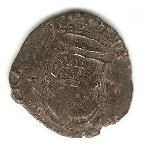 Cuartillo de Felipe II (Toledo, 1566-1576) repintado 301240356