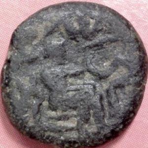AE Dracma de Partia, Sanabares (50-56 DC) 318043008