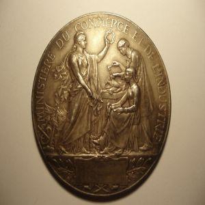 commerce - Medallón República Francesa (Ministère du commerce et de l'industrie) 341872133