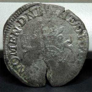 Douzain de Enrique IV (Francia, 1589-1610) con resello 348591278