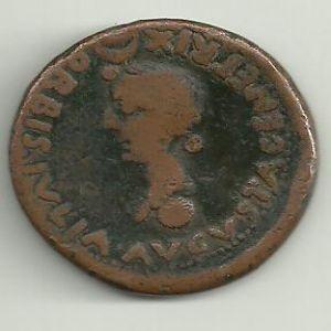 Dupondio Hispanorromano COLONIA ROMVLA bajo Augusto 402848372