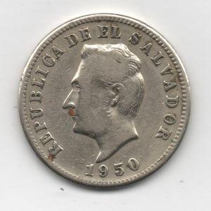 El Salvador, 5 centavos, 1950. 418798265