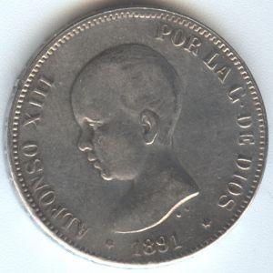 5 Pesetas Alfonso XIII 1891 ¿Auténtica? 463289212