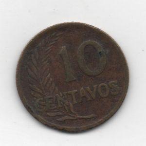 Perú, 10 centavos, 1958. 473022993