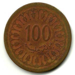 Túnez, 100 millin, 1960. 549498809