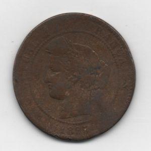 Francia, 10 céntimos, 1895. 60462159