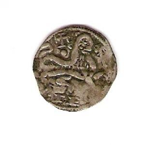 Dinero tipo leonés de Alfonso IX (cruz sobre vástago & punto bajo cruz, 1216) 617977283