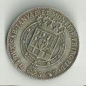 Italia (Cerdeña), 5 liras, 1820. 629820211
