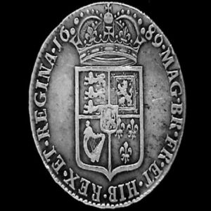 1/2 Corona de Guillermo III de Orange y María II Estuardo 643552303