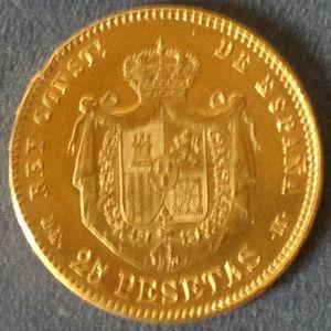 25 Pesetas 1878, *18-*78, DE-M 680902680