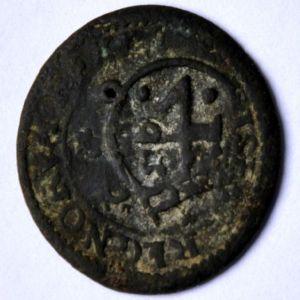 2 Maravedís de Felipe III (Ingenio Segovia, 1598-1602) con RESELLO 4 Maravedís 1652 Madrid 727569747