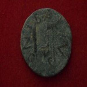 sestercio de gades,cabeza de hércules,reinado de octavio.(27 a.c. a 14 d.c.) 749700574
