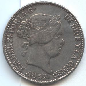 20 Reales de Isabel II 1859 ¿Auténtica? 759032141
