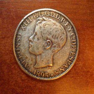 1 peso / 5 pesetas de Puerto Rico, de 1895... ¿falso o auténtico? 765541925