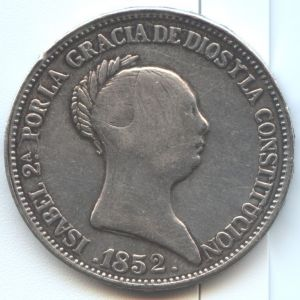 20 reales Isabel II 1852 ¿Auténtica? 783655800