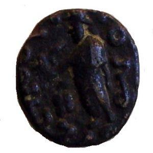 Dracma de vellón Indo-escita de Azes II 801679970