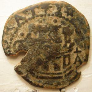 2 Maravedies de Felipe II (Cuenca, circa 1585) con resello IIII/1603  815707856