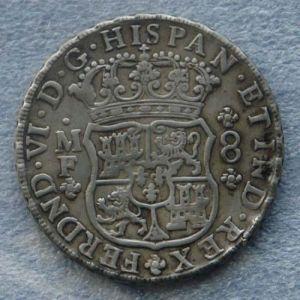 """8 Reales """"Columnario"""" de Fernando VI (México, 1747) 819099560"""