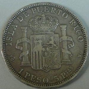 1 Peso = 5 Pesetas 823884269