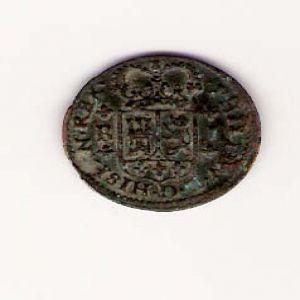 1 Maravedí de Felipe V de 1718 , ceca Barcelona 854172364