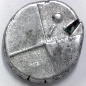 Hemidracma de Tracia-Cherronesos, acuñacion con I 855066350