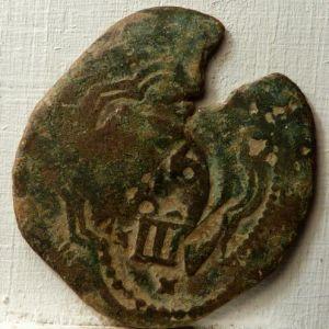 4 Maravedeís de Felipe III con resellos falsos de época 865786003