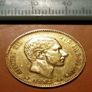 1884 *84 Madrid MSM 25 pesetas Alfonso XII..... 918843520