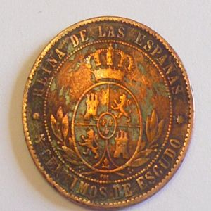 5 Cts. Escudo de Isabel II (Barcelona, 1868) 920970774