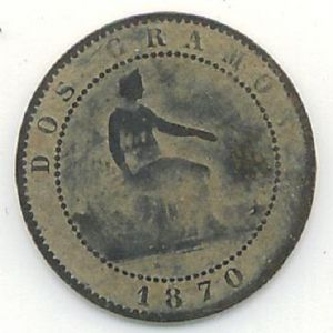 2 Céntimos de Peseta del Gobierno Provisional (Barcelona, 1870) 929950808