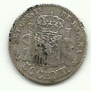 50 centimos,alfonsoXII de 1831(plata) 944342124
