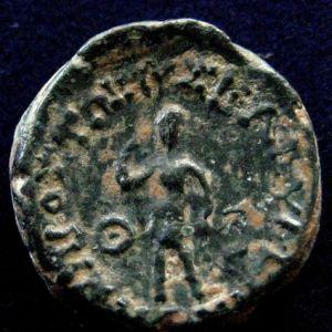 AE 16 seleucida de Antioco IV Epifanes acuñado en Mopsos, Cilicia 9536142