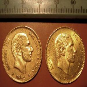 1884 *84 Madrid MSM 25 pesetas Alfonso XII..... 959211984